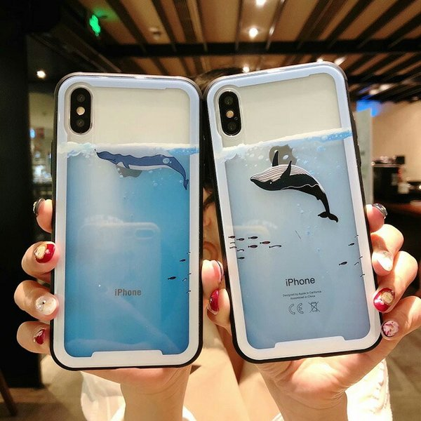 0bb37f2c94 iphoneX iphonex iphone8 iphone8plus iphone7 iphone7plus iphone6 iphone6s  iphone6plus iphone6splus 海外 かわいい クジラ スマホケース iphone plus ...