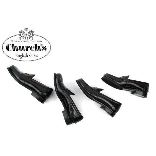 Church's チャーチ レディース コインローファー ポリッシュドフュムカーフ SALLY R 8742 POLISHED FUME〔SK〕|tigers-brothers|06