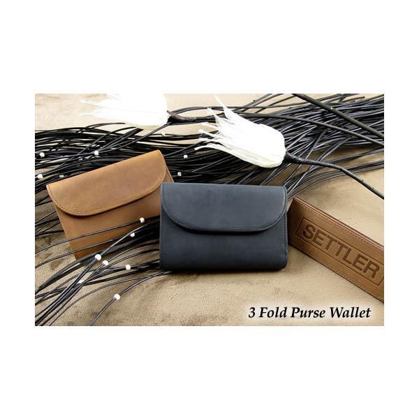 送料無料 ow1112 3fold purse wallet settler セトラー