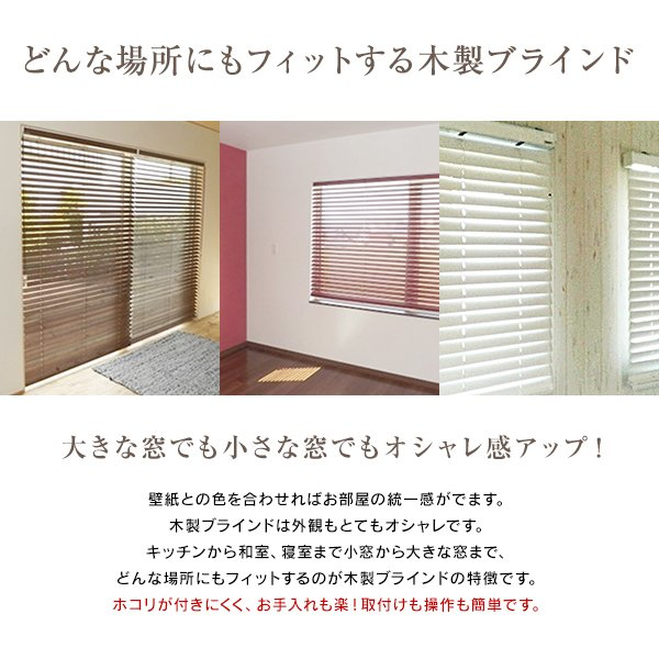 木製ブラインド アトラス50BASIC ウッドブラインド (幅201cm-220cm×高さ48cm-80cm)オーダーメイド|timberblind|02