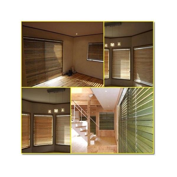 木製ブラインド  ウッドブラインド  パイン材(幅141-160cm×高さ101-120cm)オーダーメイド|timberblind|03