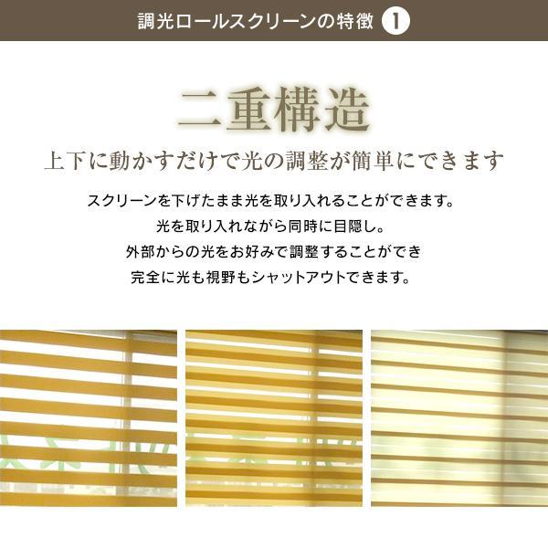 調光ロールスクリーン ロールスクリーン (幅45-60cm高さ201-250cm) オーダーメイド timberblind 02