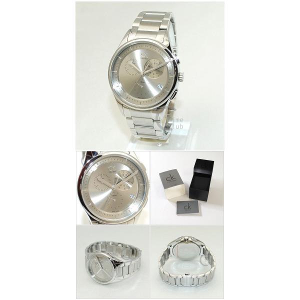 Calvin Klein CK (カルバンクライン) 時計 腕時計 K2A27126  ブレス シルバー メンズ ウォッチ クォーツ|timeclub|05