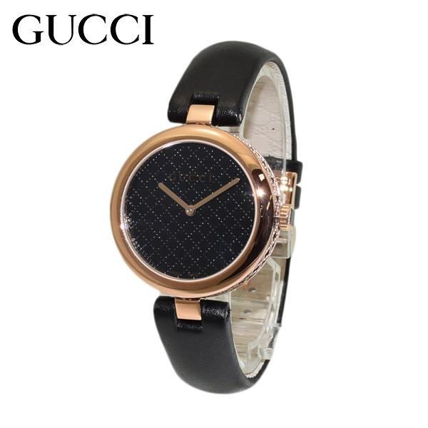 competitive price e3429 fbb2f GUCCI(グッチ) 時計 腕時計 YA141401 ディアマンティッシマ レザー ブラック/ピンクゴールド レディース