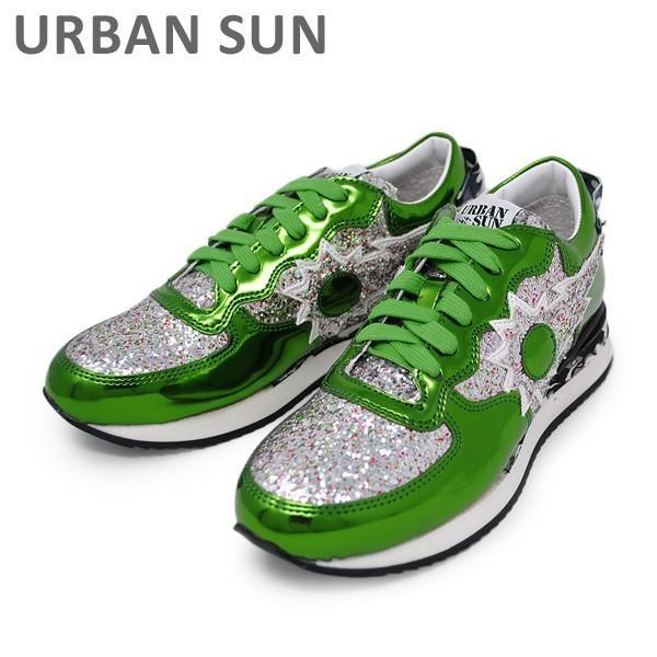 アーバンサン スニーカー LAURE 131 メタリックグリーン/シルバー URBAN SUN レディース シューズ 靴