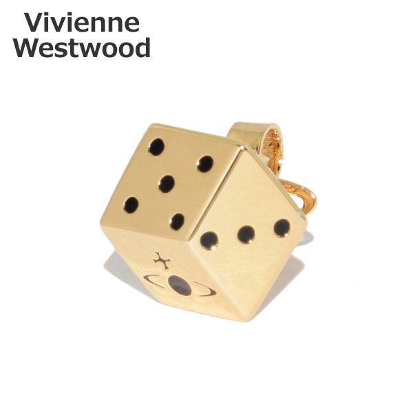 SS21 ヴィヴィアンウエストウッド ピアス 62010207-R124-CN ゴールド HENDRIX 片耳用 アクセサリー メンズ レディース
