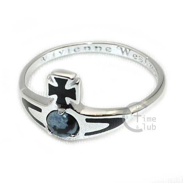 Vivienne Westwood (ヴィヴィアンウエストウッド) 指輪 ベッツィーリング BETSY RING シルバー/ブラック SR391/5 XS S M アクセサリー レディース|timeclub|02