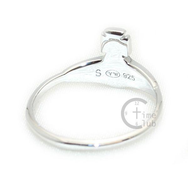 Vivienne Westwood (ヴィヴィアンウエストウッド) 指輪 ベッツィーリング BETSY RING シルバー/ブラック SR391/5 XS S M アクセサリー レディース|timeclub|04