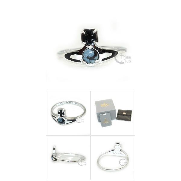 Vivienne Westwood (ヴィヴィアンウエストウッド) 指輪 ベッツィーリング BETSY RING シルバー/ブラック SR391/5 XS S M アクセサリー レディース|timeclub|05