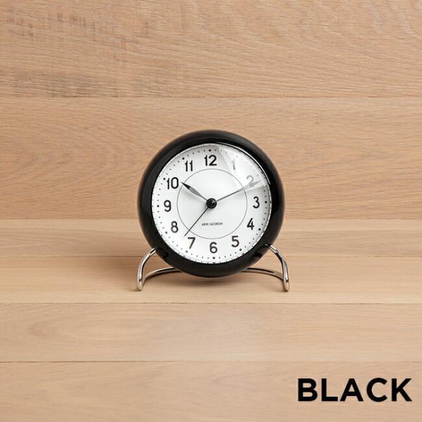 ARNE JACOBSEN アルネ ヤコブセン テーブル クロック ステーション 時計 置き時計 目覚まし時計 アナログ ブラック 黒 グレー ブラウン 茶 グリー|timelovers|03