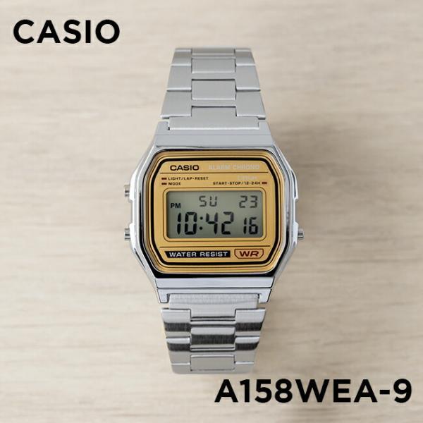 <title>10年保証 CASIO カシオ スタンダード A158WEA-9 腕時計 メンズ レディース キッズ 子供 男の子 女の子 チープカシオ チプカシ デジタル NEW ARRIVAL 日付 シルバー ベージュ</title>