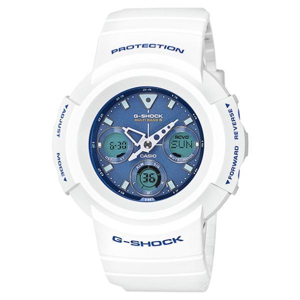 【国内正規品】CASIO G-SHOCK カシオ Gショック AWG-M510SWB-7AJF 腕時計 メンズ キッズ 子供 男の子 アナデジ 電波 ソーラー ソーラー電波時計 防水 ホワイト timelovers