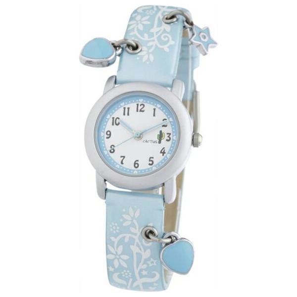 送料無料 CACTUS KIDS HART CHARM カクタス キッズ ハートチャーム CAC-28-L04 アナログ ガールズ 子供 白 定価の67%OFF ハート ファクトリーアウトレット 水色 ホワイト 腕時計 スカイブルー