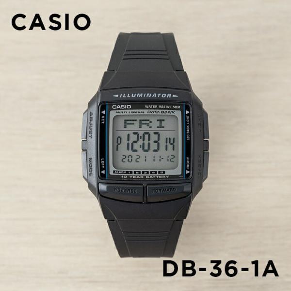 4a7adb092c 10年保証】CASIO DATA BANK カシオ データバンク DB-36-1A 腕時計 メンズ ...