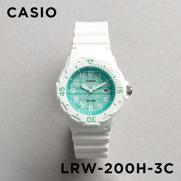 10年保証 送料無料 CASIO カシオ スポーツ レディース 早割クーポン LRW-200H-3C 腕時計 キッズ 子供 チプカシ チープカシオ 日付 グリーン ホワイト ラッピング無料 女の子 防水 アナログ 白