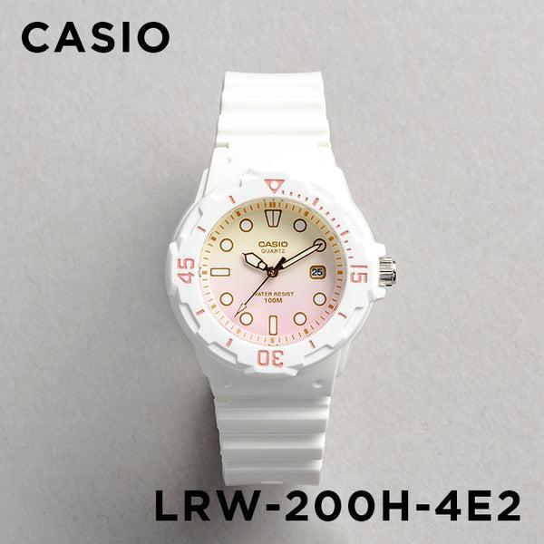 10年保証 送料無料 CASIO カシオ 未使用品 スポーツ レディース LRW-200H-4E2 腕時計 キッズ 子供 アナログ 防水 女の子 チプカシ 在庫一掃 ピンク 白 日付 チープカシオ ホワイト