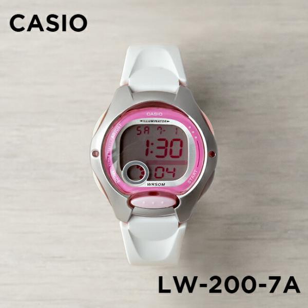 10年保証 送料無料 CASIO 送料無料限定セール中 カシオ スタンダード レディース LW-200-7A 腕時計 キッズ 子供 白 チープカシオ デジタル 一部予約 チプカシ ピンク 女の子 日付 ホワイト 海外