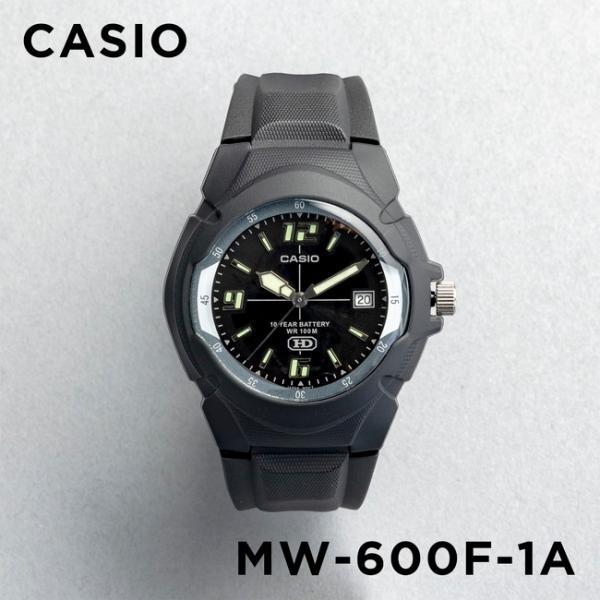 10年保証 CASIO カシオ スタンダード メンズ MW-600F-1A 腕時計 キッズ 子供 男の子 チープカシオ チプカシ アナログ 日付 防水 ブラック 黒