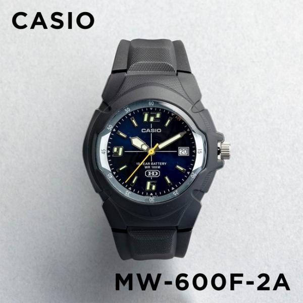 10年保証 CASIO カシオ スタンダード メンズ MW-600F-2A 腕時計 キッズ 子供 男の子 チープカシオ チプカシ アナログ 日付 防水 ブラック 黒 ネイビー