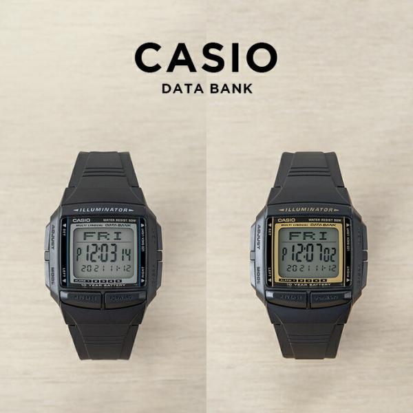 10年保証 送料無料 CASIO カシオ データバンク 腕時計 メンズ レディース キッズ ゴールド 日本限定 金 黒 子供 ※ラッピング ※ 女の子 海外モデル ブラック 男の子 デジタル