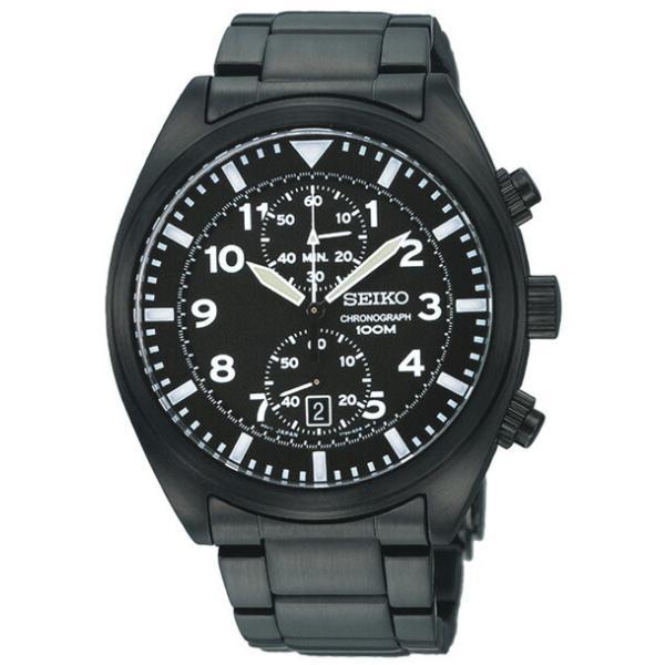 wholesale dealer 05bb6 cd260 並行輸入品 10年保証 SEIKO セイコー クロノグラフ SNN233 腕時計 メンズ 逆輸入 アナログ ブラック 黒 海外モデル