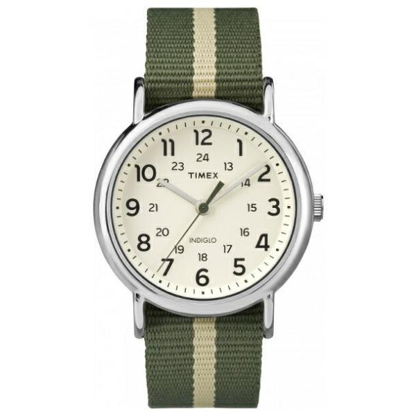 並行輸入品 TIMEX タイメックス ウィークエンダー リバーシブル メンズ TW2P72100 腕時計 レディース アナログ カーキ アイボリー ナイロンベルト|timelovers