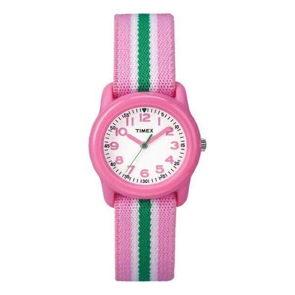 <title>TIMEX タイメックス キッズ アナログ 29MM TW7C05900 腕時計 買取 子供 男の子 女の子 ピンク ホワイト 白 ナイロンベルト 海外モデル</title>