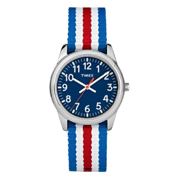 TIMEX タイメックス お気に入 キッズ アナログ 30MM TW7C09900 腕時計 ご注文で当日配送 ネイビー 男の子 ナイロンベルト 女の子 子供 シルバー