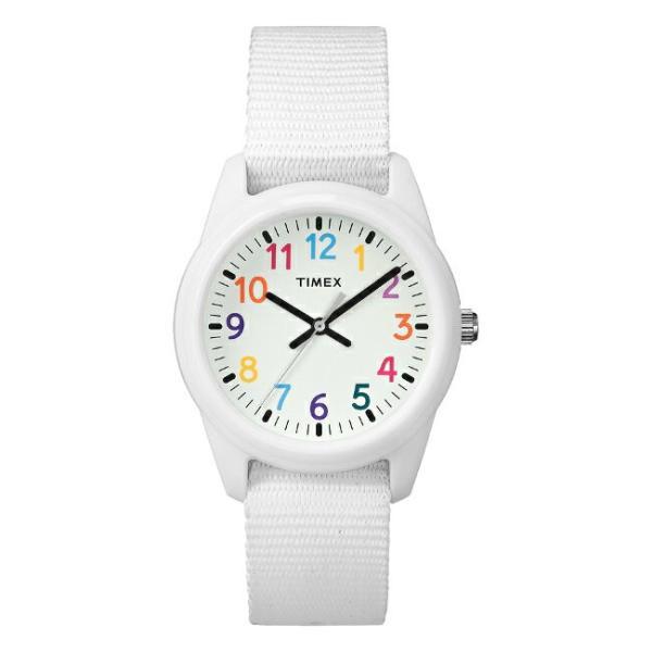 <title>TIMEX タイメックス キッズ アナログ 限定価格セール 30MM TW7C10300 腕時計 子供 男の子 女の子 ホワイト 白 ナイロンベルト 海外モデル</title>