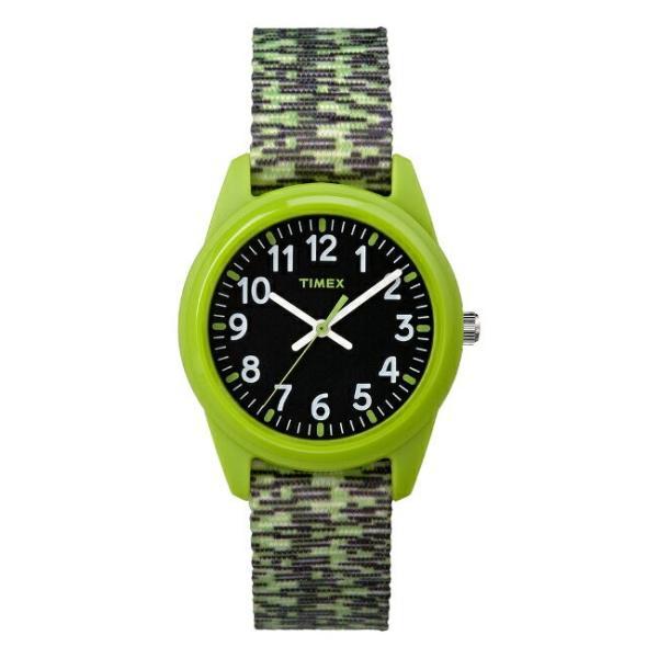<title>TIMEX タイメックス キッズ アナログ 32MM TW7C11900 春の新作シューズ満載 腕時計 子供 男の子 女の子 グリーン 緑 ブラック 黒 ナイロンベルト 海外モデル</title>