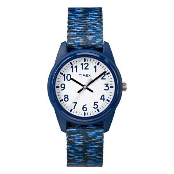 <title>TIMEX セール価格 タイメックス キッズ アナログ 32MM TW7C12000 腕時計 子供 男の子 女の子 ネイビー ホワイト 白 ナイロンベルト 海外モデル</title>