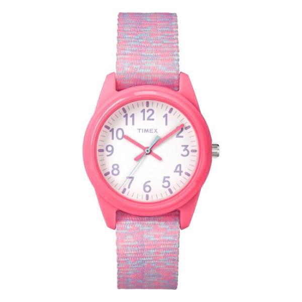 <title>贈り物 TIMEX タイメックス キッズ アナログ 32MM TW7C12300 腕時計 子供 男の子 女の子 ピンク ホワイト 白 ナイロンベルト 海外モデル</title>