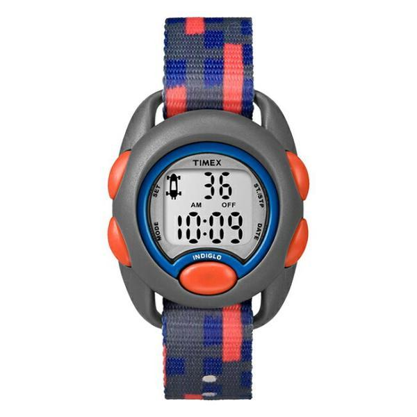<title>TIMEX タイメックス キッズ デジタル 34MM TW7C12900 腕時計 子供 男の子 女の子 アナログ グレー ブルー 物品 青 ナイロンベルト 海外モデル</title>