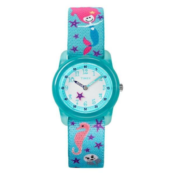 <title>TIMEX タイメックス キッズ アナログ 29MM TW7C13700 腕時計 子供 男の子 女の子 スカイブルー 水色 ホワイト 白 ナイロンベルト 日本製 たつのおとしご くら</title>