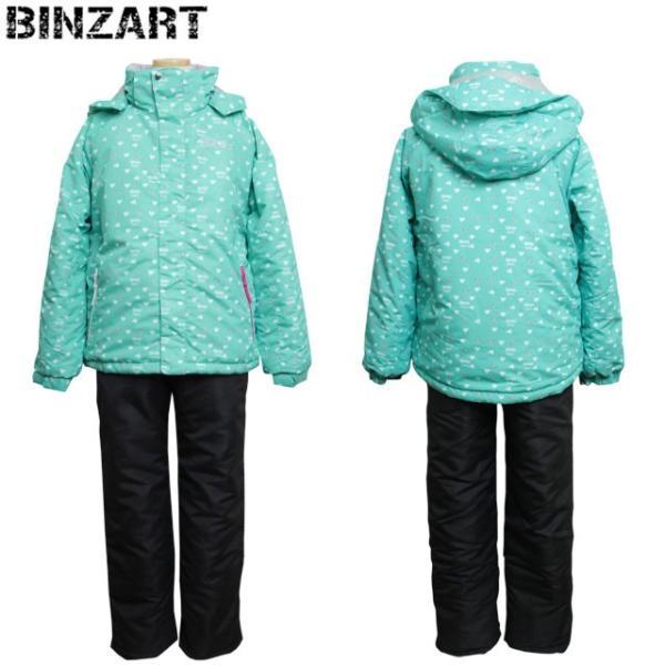 37bacce8d1ee8 BINZART(バンザート) スキーウェア ジュニア キッズ 女の子 子供 スノーウェア 上下セット 全2 ...