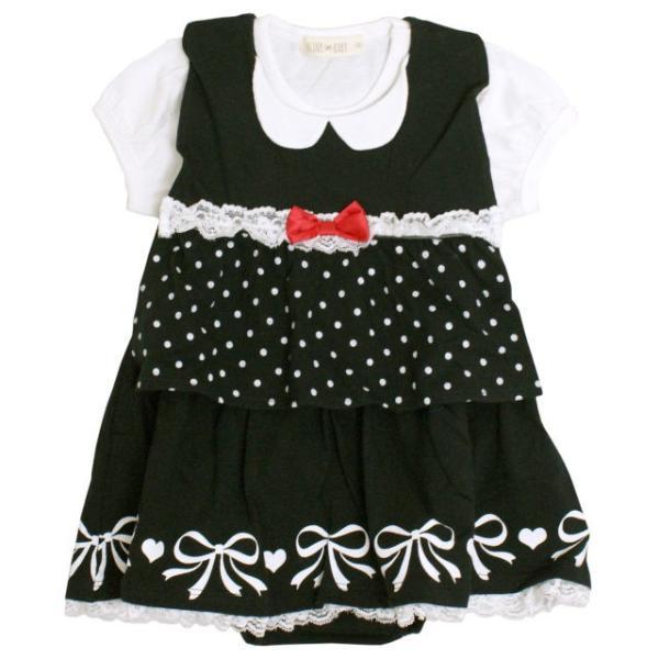 ロンパース 赤ちゃん ベビー 女の子 綿100% ベスト型スタイ付き フォーマル 半袖 カバーオール ギフト 出産祝 贈り物 ミニオール 夏物在庫処分セール|timely