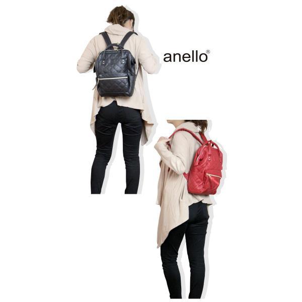 anello(アネロ) リュック キルティング 合成皮革 がま口 口金リックサック アネロリュック ミニサイズ timely 04