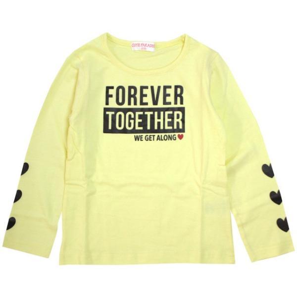 長袖 Tシャツ 女の子 子供 キッズ カットソー パステル プリント トップス 子供服 110cm 120cm 130cm|timely