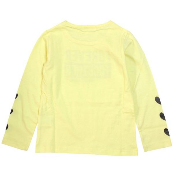 長袖 Tシャツ 女の子 子供 キッズ カットソー パステル プリント トップス 子供服 110cm 120cm 130cm|timely|02
