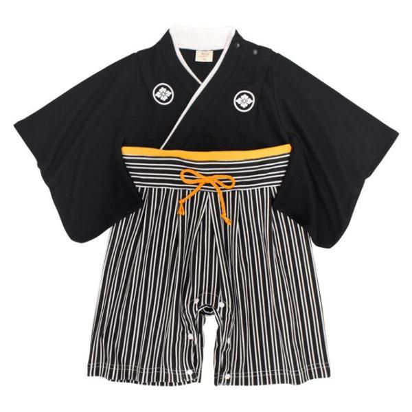 袴ロンパース男の子ベビー赤ちゃん初節句着物はかま和装カバーオールフォーマルべビー服60cm70cm80cm90cm