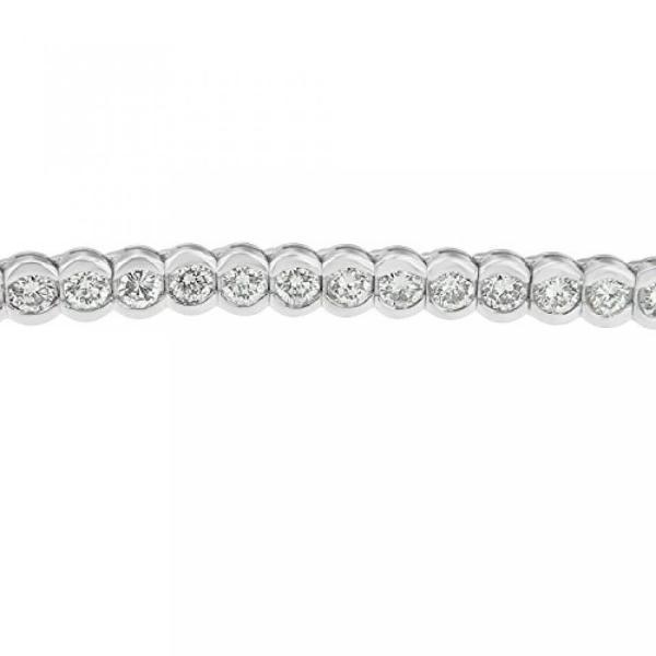 ファッション ブレスレット14 kt ゴールド ラウンド ダイヤモンド ブレスレット (8.00 cttw、H-私は色、クラリティ SI1 ・ SI2) 並行輸入品