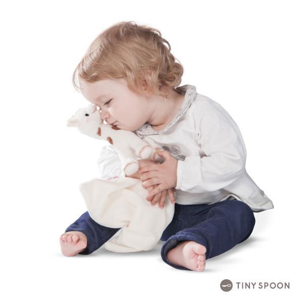 シェリーソフィー・ドゥドゥ キリンのソフィー 0ヶ月 0歳 布ハンカチ ぬいぐるみ ベビー用品 出産祝い ギフト|tinyspoon|04