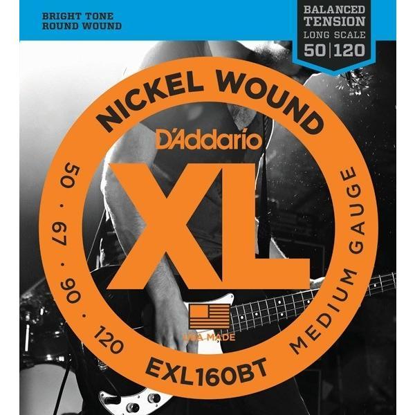 D'Addario EXL160BT XL Balanced Tension (50-120)(ベース弦)(3セット)