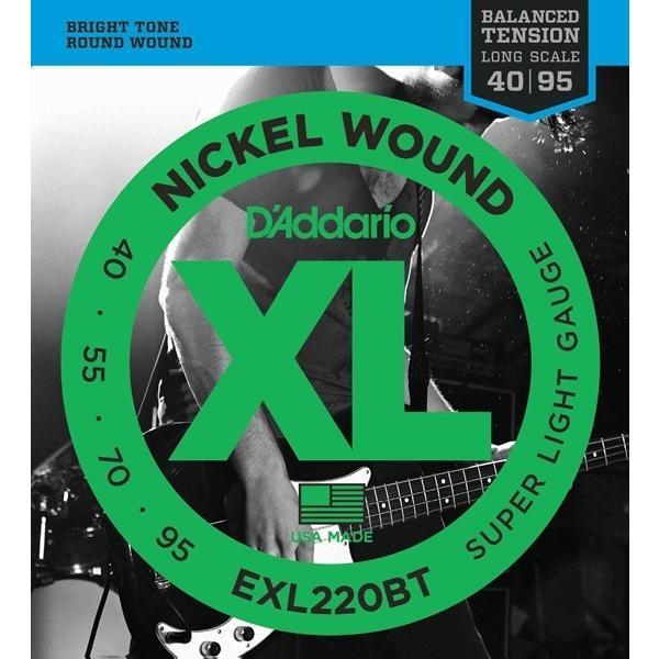D'Addario EXL220BT XL Balanced Tension (40-95)(ベース弦) (ネコポス)