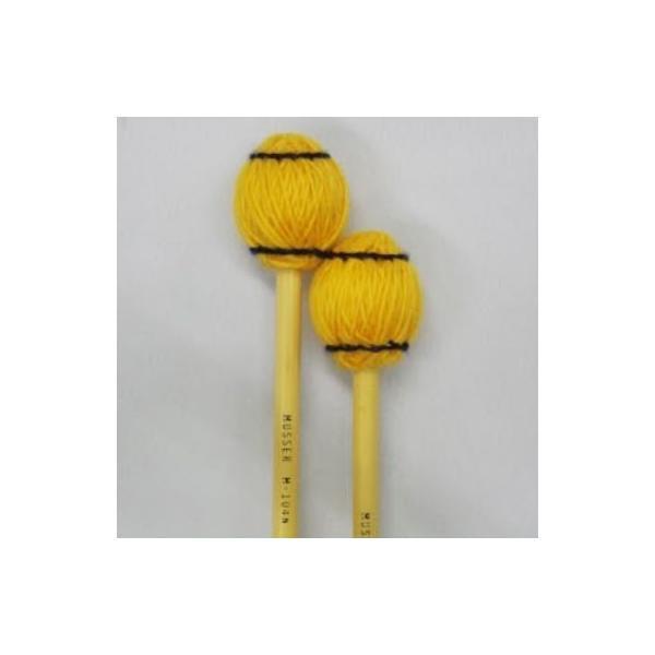 《期間限定!ポイントアップ!》Musser 100 Series M-104 Soft オレンジ毛糸 (1ペア)(マリンバ、シンバル、小物打楽器用マレット)