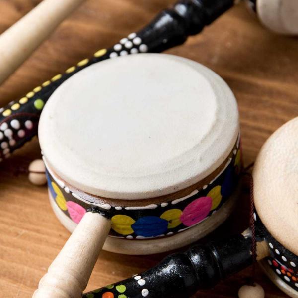 インドネシアのでんでん太鼓 / バリ 打楽器 民 レビューでタイカレープレゼント tirakita-shop 04