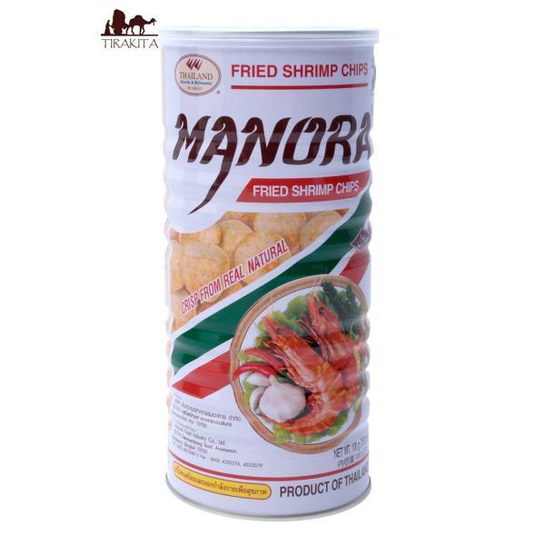 えびせん エビせん えびチップス お菓子 フライドシュリンプチップス Lサイズ缶(Manora) タイ スナック