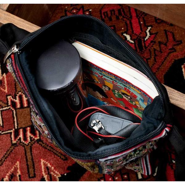 ショルダーバッグ モン族 バック 刺繍 (一点物)モン族刺繍のスクエアショルダーバッグ インド かばん ポーチ エスニック アジア tirakita-shop 13