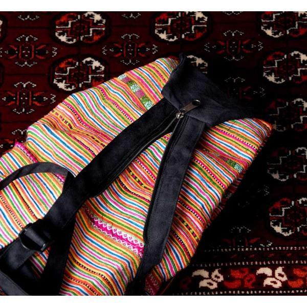 モン族刺繍 まんまる折りたたみ式2Wayトラベルバッグ / ショルダーバッグ レビューでタイカレープレゼント|tirakita-shop|11