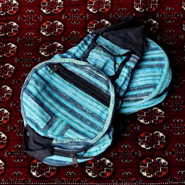 モン族刺繍 まんまる折りたたみ式2Wayトラベルバッグ / ショルダーバッグ レビューでタイカレープレゼント|tirakita-shop|17